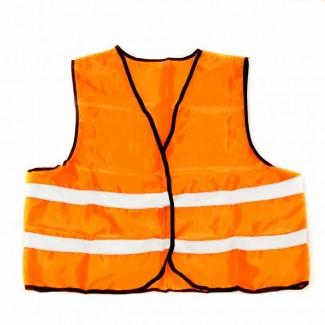 Жилет светоотражающий (оранжевый)