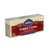 Чай в пакетиках черный Twistea 25шт Золотой Цейлон