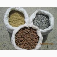 Продам цемент, песок, щебень, отсев, керамзит в мешках с доставкой в Запорожье