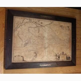 Подарок Директору - Генеральная карта Украины 1648г