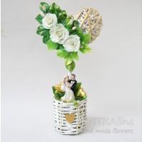Декоративное деревце-топиарий для декора, для подарка