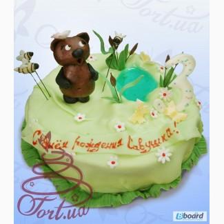 Детский торт на заказ в Киеве Винни пух