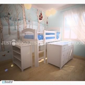 Комплект детской мебели Снежок натуральное дерево
