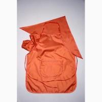 Фартук для труда и творчества с косынкой и нарукавниками оранжевый