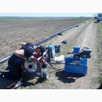 Стыковое соединение ПЭ труб всех диаметров от 40 мм до 630 мм работаем по Украине