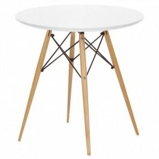 Стол обеденный деревянный Тауэр Вуд, 60 см, цвет белый, черный