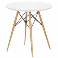Стол обеденный деревянный Тауэр Вуд, 80 см, цвет белый