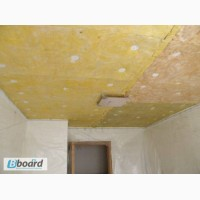 Тепло-шумо изоляция потолков (минеральная вата)