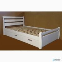 Односпальная кровать с ящиками из массива ясеня Ольга