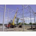 Будівництво овочесховища. Монтаж металоконструкцій