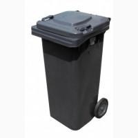 Бак для мусора пластиковый, темно-серый, 120л. 120A-9DG