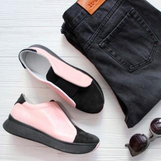 АКЦИЯ! Кроссовки с резинкой (розовые)