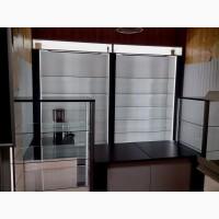 Стеллажи торговые, мебель для магазинов, аптек, витрины, тумбы