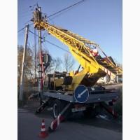 Арендаавтовышки 17 м в Киеве.Заказать автовышку круглосуточно