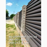 Профнастил забор ламели, Забор жалюзи металлические, Ламели жалюзи