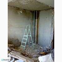Демонтаж сантехкабины проемы штробы в Харькове