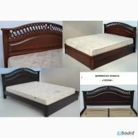 Двуспальная кровать с резьбой из массива дерева Глория