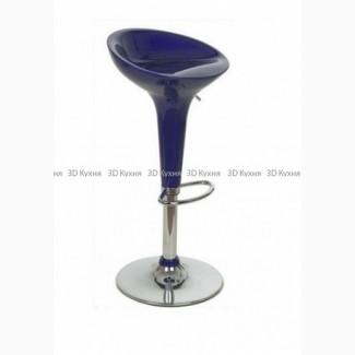 Барный стул для кафе бара пластиковый синий, барная мебель