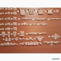 Продам гибкие деревянные резные оранаменты (короны, капители, розетки)