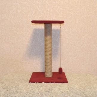 Когтеточка с лежанкой высотой 55 см