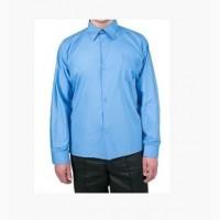 Рубашка голубая с длинным рукавом. Форма для охраны