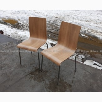 Деревянные стулья б/у на металлических ножках для летней площадки, мебель бу