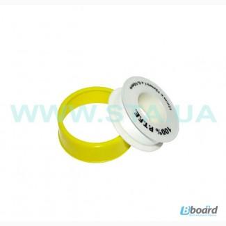 Фум-лента в рулонах толщиной 0,075 и 0,2мм для трубных резьб
