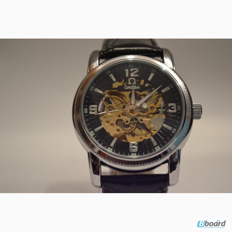 0e9fd1a53a1ed9 Элитные мужские наручные часы Omega Skeleton (Black Steel),гарантия