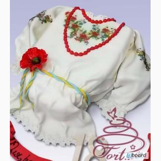 Торт на заказ Вышиванка в Киеве