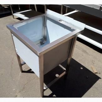 Ванна моечная 600х600х850 мм из нержавеющей стали глубиной чаши 300 мм