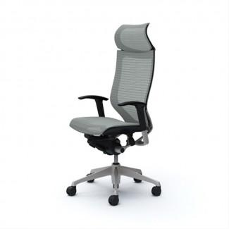 Кресло офисное OKAMURA CP Light grey, серебряная